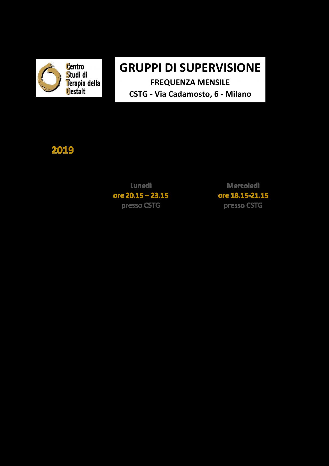calendario supervisioni 2019