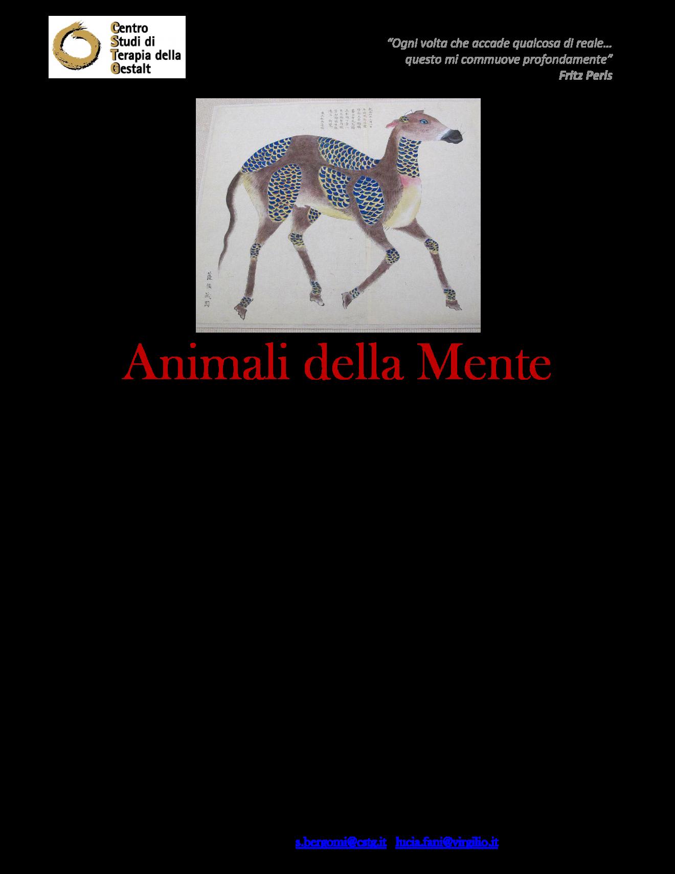 locandina ANIMALI DELLA MENTE